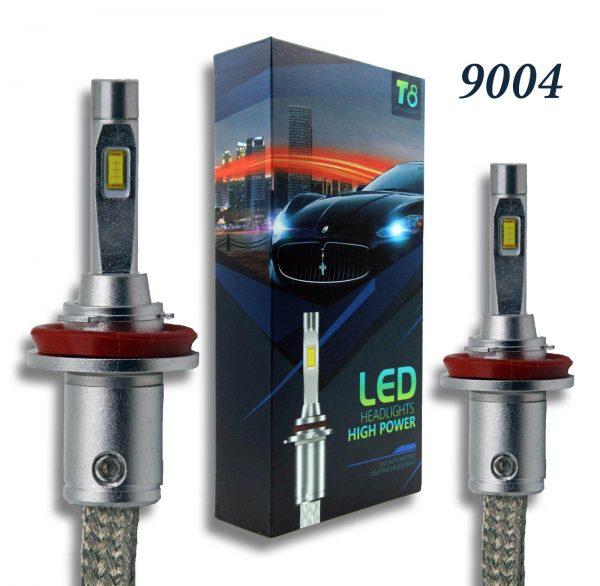 9004 T8 LED Headlight Set