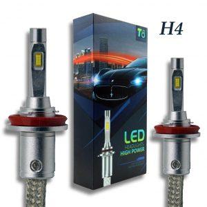 H4 T8 LED Headlight Set
